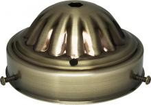"Satco Products Inc. 90/679 - 4"" Fitter AntiqueBrass Finish"